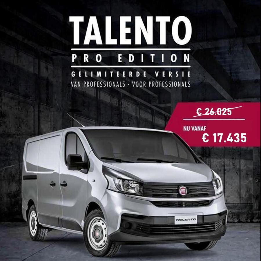Autobedrijf te Grotenhuis Prijslijst Fiat Talento.